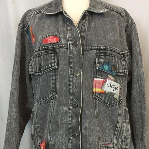 Sergio Valente Jackets & Blazers - Sergio Valente L Jacket Black Denim Vintage